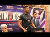 CHARLES MARTIN v ANTHONY JOSHUA -FULL PRESS CONFERENCE W/ EDDIE HEARN / IBF HEAVYWEIGHT CHAMPIONSHIP