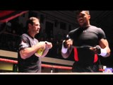 ANTHONY JOSHUA SHADOW BOXING FOOTAGE AHEAD OF IBF WORLD TITLE CLASH / MARTIN v JOSHUA