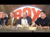 TYSON FURY v WLADIMIR KLITSCHKO ANNOUNCEMENT PRESS CONFERENCE W/ TYSON FURY, JOHN FURY, PETER FURY