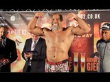 THE CHAMP WEIGHS IN !!! - SHANNON BRIGGS v EMILIO EZEQUIEL ZARATE - OFFICIAL WEIGH IN / HAYE DAY 2