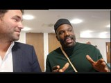 EDDIE HEARN (WITH DERECK CHISORA) - ON WHYTE-CHISORA SPAT, GROVES v MURRAY & SPENCE/ BROOK /VARGAS