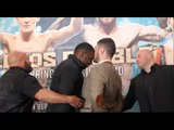 HEADS IN !!! - DILLIAN WHYTE v DAVE ALLEN - HEAD TO HEAD @ FINAL PRESS CONFERENCE / LEEDS RUMBLE