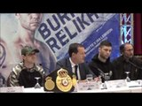 RICKY BURNS v KIRYL RELIKH - OFFICIAL PRESS CONFERENCE IN SCOTLAND WITH ADAM SMITH / BURNS v RELIKH