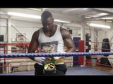 'THE BODY SNATCHER' DILLIAN WHYTE PUTTING IN THE WORK *PRE SPARRING FOOTAGE* W/ TRAINER MARK TIBBS