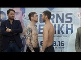 MON RICKSTER!! RICKY BURNS v KIRYL RELIKH - OFFICIAL WEIGH IN & HEAD TO HEAD / BURNS v RELIKH