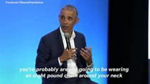 Barack Obama: 'If You're Confident About Your Sexuality, You Don't Need Eight Women Around You Twerking'