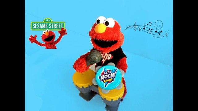 Sesame Street Lets Rock Elmo Tickle Me LOL Playskool - Unboxing Review Demo