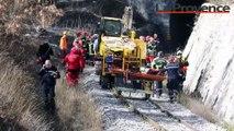 Alpes-de-Haute-Provence : un tunnel ferroviaire s'est effondré entre Saint-André-les-Alpes et Moriez, un ouvrier de 45 ans toujours sous les gravats