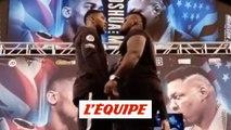 Première rencontre tendue entre Anthony Joshua etJarrell Miller - Boxe - Lourds