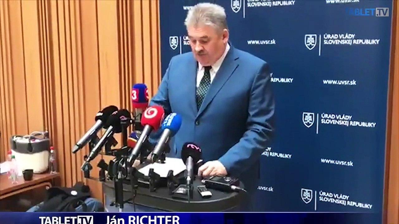 ZÁZNAM: Brífing ministra práce J. Richtera