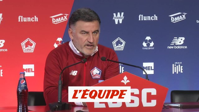 Galtier «Strasbourg joue un foot total» - Foot - L1 - LOSC