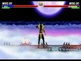 Street fighter vs mortal kombat (ryu vs scorpian)