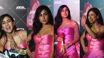 Sara Ali Khan stuns in a pink dress at Nykaa Femina Beauty Awards 2019