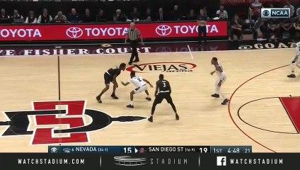 No. 6 Nevada vs. San Diego State Basketball Highlights (2018-19)