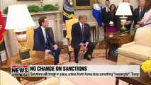 """Trump says """"meaningful"""" steps need to be taken to lift sanctions, amid hinting more summits with Kim Jong-un ahead"""