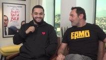 Gilles Lellouche et  Malik Bentalha : les acteurs de Jusqu'ici tout va bien face à notre stagiaire de 3ème
