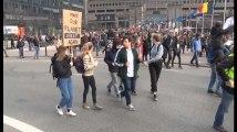 Greta Thunberg à la manifestation de Bruxelles