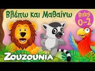 Βλέπω και Μαθαίνω #8  Τα Ζωάκια της Ζούγκλας και οι Ήχοι τους Εκπαιδευτικό