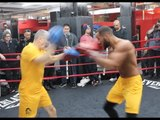 CHUNKY EXPLOSIVE! - JAMES DeGALE (IN BROOKLYN) - FULL PADWORK WITH JIM McDONNELL / JACK v DeGALE