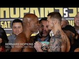 BERNARD HOPKINS v JOE SMITH JR - OFFICIAL WEIGH IN & HEAD TO HEAD / HOPKINS v SMITH