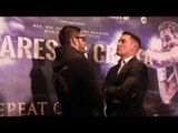JORGE LINARES v ANTHONY CROLLA (II) - HEAD TO HEAD @ MANCHESTER PRESS CONFERENCE / LINARES v CROLLA