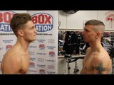 ARCHIE SHARP v ALEX PHILLIPS - OFFICIAL WEIGH-IN VIDEO (& HEAD TO HEAD) / SHARP v PHILLIPS