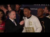GENNADY GOLOVKIN v DANIEL JACOBS - DANIEL JACOBS POST WEIGH-IN INTERVIEW (MADISON SQUARE GARDEN)