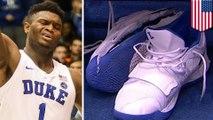 How Zion Williamson's Nike kicks fell apart