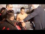 GET THE TOWELL!! - ZOLANI TETE v ARTHUR VILLANUEVA - WEIGH IN & HEAD TO HEAD / CITY OF CHAMPIONS
