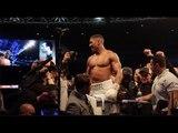 ANTHONY JOSHUA IMMEDIATELY AFTER 11TH ROUND TKO WIN OVER WLADIMIR KLITSCHKO @ WEMBLEY STADIUM