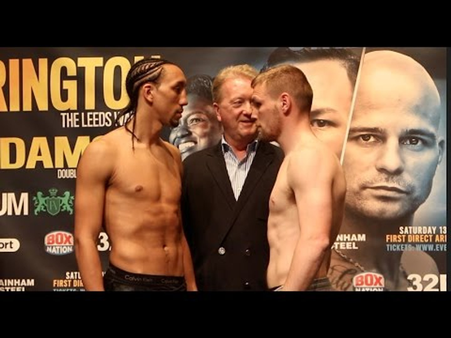 TYRONE NURSE v ANDY KEATES - OFFICIAL WEIGH-IN VIDEO FROM LEEDS / NURSE v KEATES