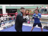 POWER TAYLOR! - JOSH TAYLOR SHOWS SPEED & POWER ON PADS w  TRAINER SHANE McGUIGAN   TAYLOR v DAVIES