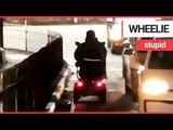 Shocking footage shows mobility scooter user driving into oncoming traffic | SWNS TV