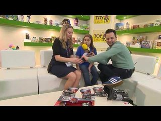 Toy Fair TV Demo Zone with Gavin Inskip and Thalia at London Toy Fair 2018