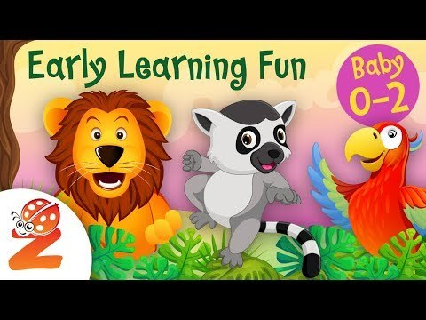 Early Learning Fun #8 Jungle Animals and their Sounds  Counting & Colors   Educational