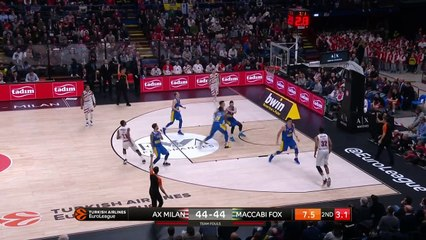 EuroLeague 2018-19 Highlights Regular Season Round 23 video: Milan 87-83 Maccabi