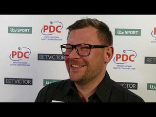 James Wade after his 10-7 win over Gerwyn Price at The BetVictor Masters