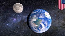 Earth's atmosphere reaches twice the distance to the moon
