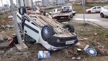 Samsun'dan Trafik Kazası! Araç Takla Attı: 4 Yaralı