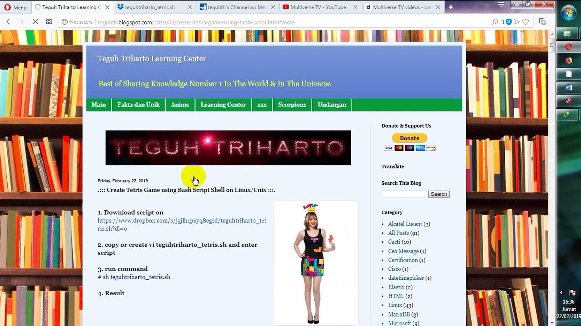 Create Tetris Game using Bash Script Shell on Linux/Unix next php