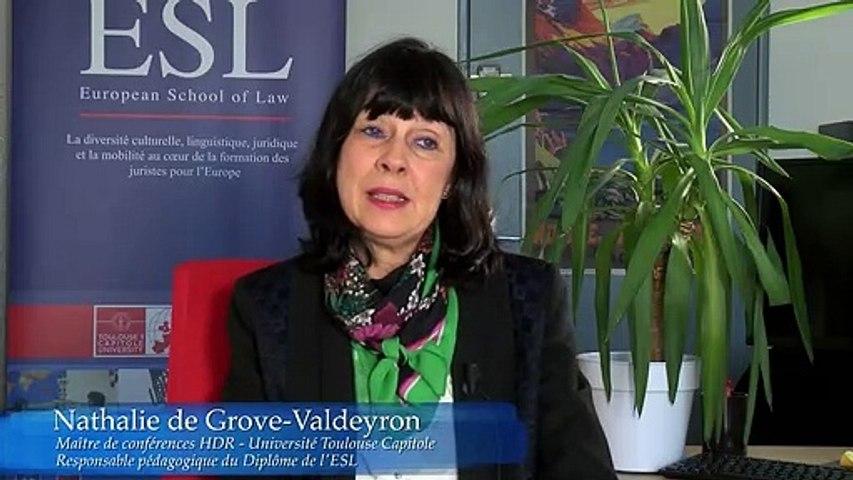 A propos de l'unité 5 du diplôme de l'Ecole Européenne de Droit - European School of Law, Université Toulouse 1 Capitole
