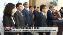 Ministry of Environment proposes deconstruction of 3 weirs built under Four Major Rivers Restoration Project