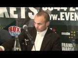 RICKY BURNS v KEVIN MITCHELL LONDON PRESS CONFERENCE / FOR iFILM LONDON