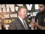 FRANK WARREN INTERVIEW FOR iFILM LONDON / KEVIN MITCHELL v RICKY BURNS LONDON PRESSER