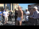 CHRIS EVANGLEOU v DANNY CASSIUS CONNOR - OFFICIAL WEIGH-IN / iFILM LONDON / LONDON CALLING