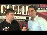 EDDIE HEARN INTERVIEW FOR iFILM LONDON / BELLEW v MIRANDA PRESS CONFERENCE / LONDON CALLING