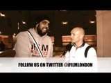 GAVIN REES POST WEIGH-IN INTERVIEW FOR iFILM LONDON / REES v BRONER