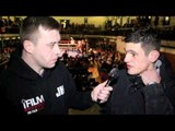 LIAM GRIFFITHS POST-FIGHT INTERVIEW FOR iFILM LONDON / RACKLEY v GRIFFITHS
