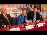 RICKY BURNS v JOSE GONZALEZ  GLASGOW PRESS CONFERENCE (ANNOUNCEMENT) / iFILM LONDON