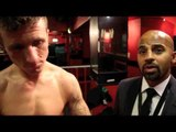 ROBBIE DAVIES JNR KOS JOSH THORNE IN ROUND 1 - POST FIGHT INTERVIEW WITH ROBBIE & DAVID COLDWELL